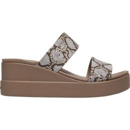 Crocs klapki damskie Brooklyn Mid Wedge W multi stucco 206219 93T